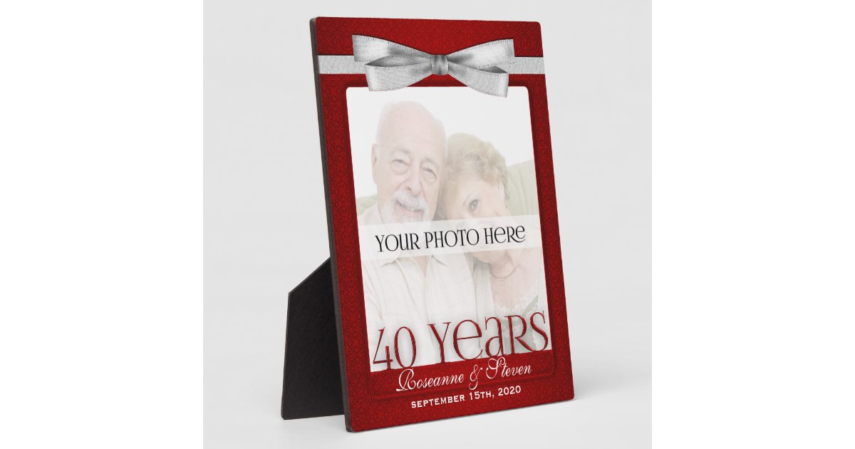 Ruby 40th Wedding Anniversary Gifts: Ruby 40th Wedding Anniversary Photo Frame