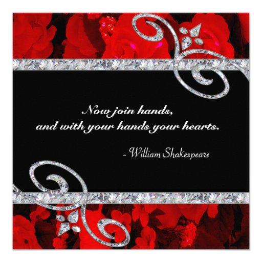 Diamond Wedding Invitation Label: Red Roses And Diamonds Free Printable Mini Kit.