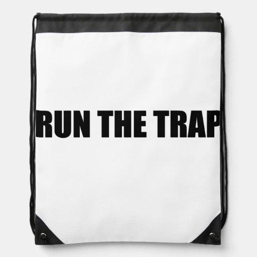 Run The Trap Drawstring Backpack   Zazzle  Run The Trap Dr...
