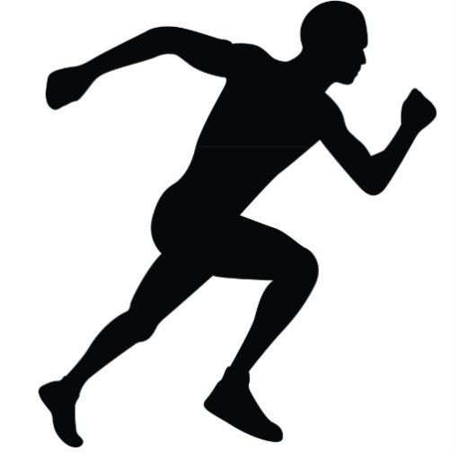 Runner Black Silhouette Shadow Photo Cut Out | Zazzle