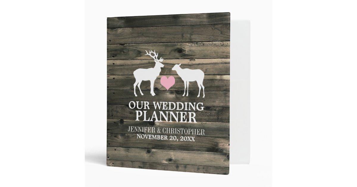Printable Wedding Planner Binder Planning A Rustic: Rustic Buck And Doe Wedding Planner Binder