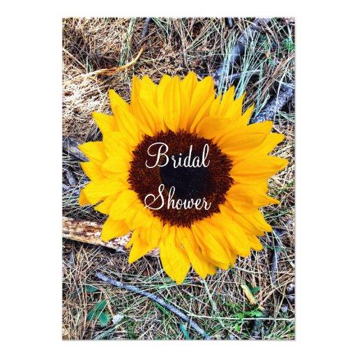 "Camo Wedding Ideas Rustic Barn: Rustic Camo Sunflower Bridal Shower Invitations 4.5"" X 6"