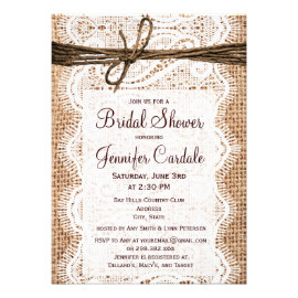 Country Bridal Shower Invitations Rustic Wedding