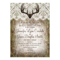 Camo Wedding Invitations Rustic Country Wedding Invitations