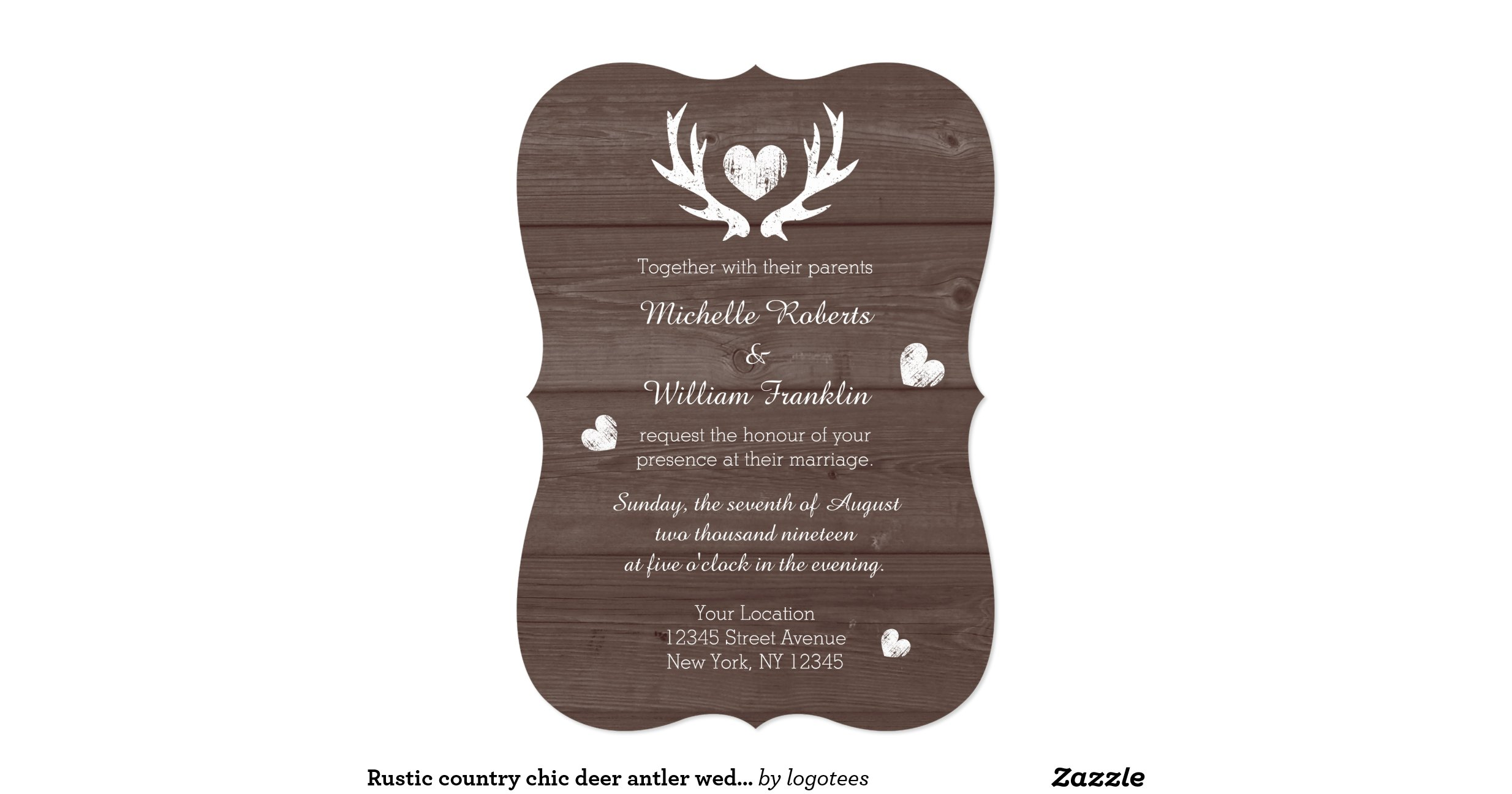 Deer Wedding Invitations: Rustic_country_chic_deer_antler_wedding_invitation