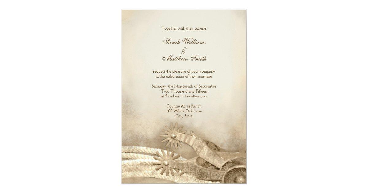 Rustic Western Wedding Invitations: Rustic Country Western Wedding Invitations