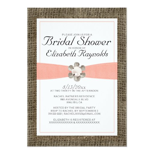 Pearl And Lace Wedding Invitations: Rustic Lace And Pearl Bridal Shower Invitations