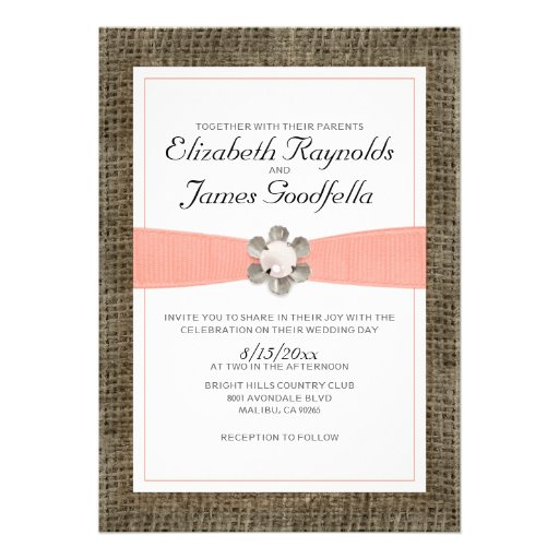 Pearl And Lace Wedding Invitations: Rustic Lace And Pearl Wedding Invitations Invite
