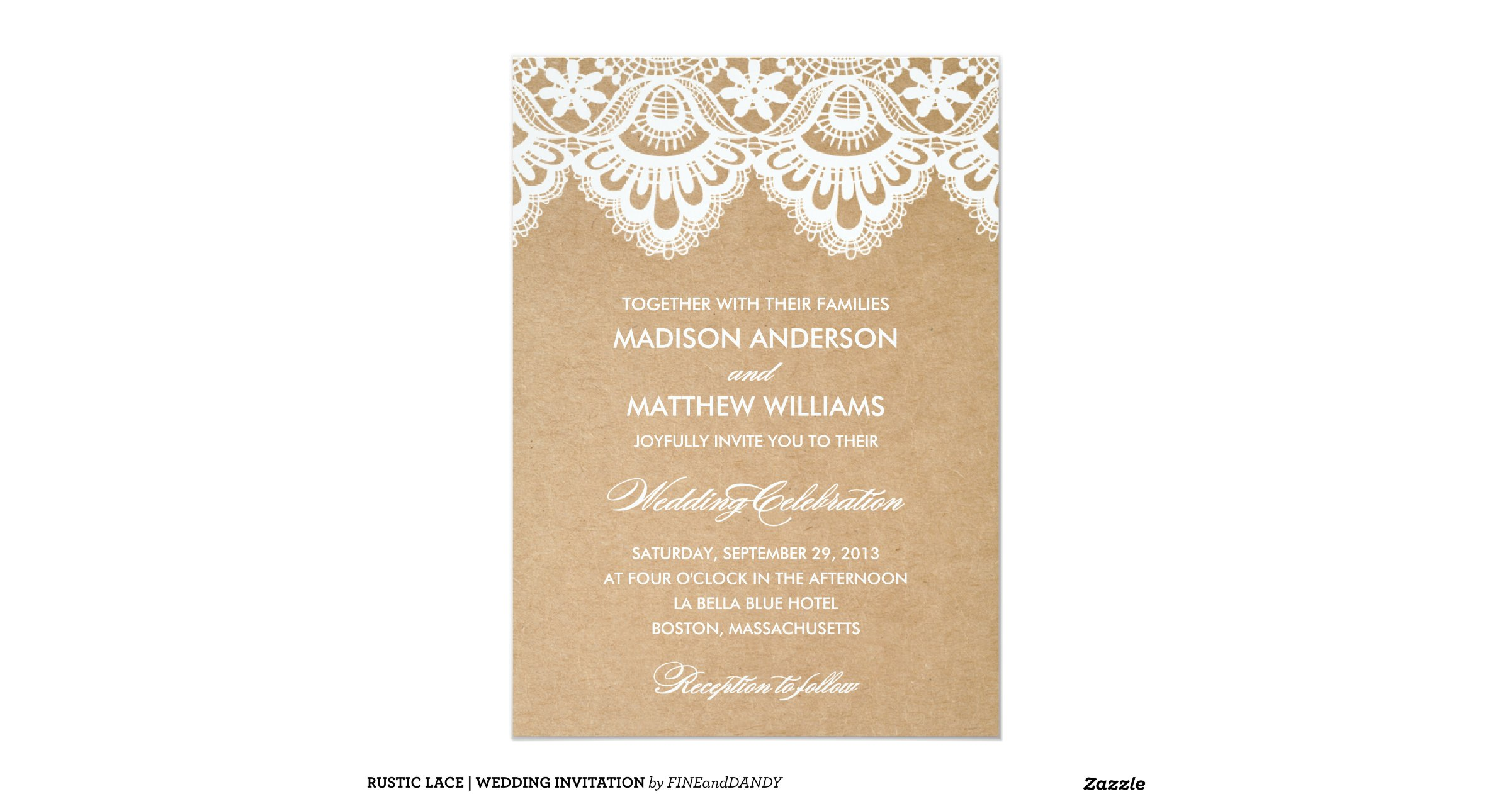 Lace Wedding Invitation: Rustic_lace_wedding_invitation