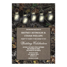 Camo Wedding Invitations Vintage Rustic Wedding Invitations