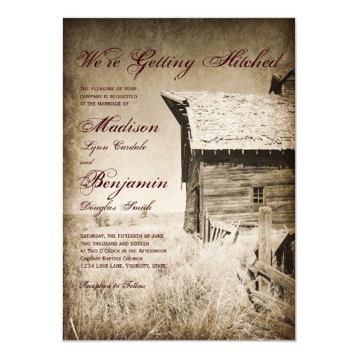 Www Zazzle Com Wedding Invitations: Rustic Old Barn Country Wedding Invitations