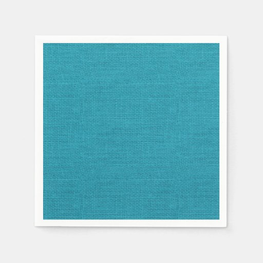 The Texture Of Teal And Turquoise: Rustic Teal Turquoise Burlap Texture Paper Napkin
