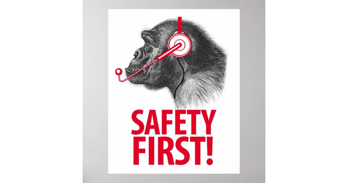 safety first poster zazzle. Black Bedroom Furniture Sets. Home Design Ideas