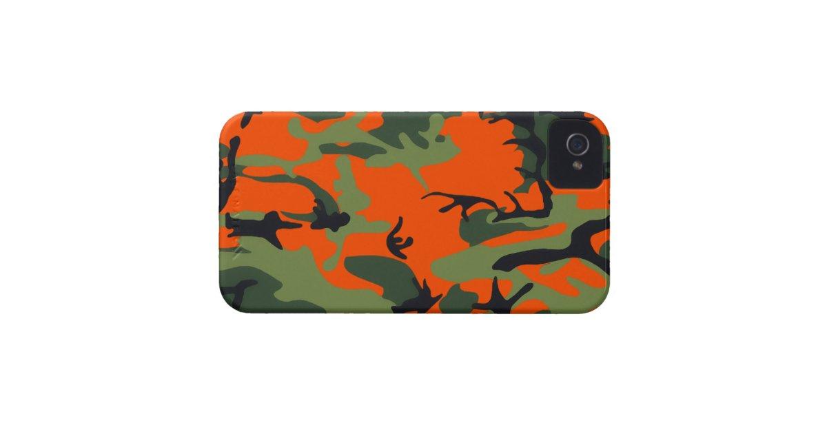 Orange Camo Iphone  Case