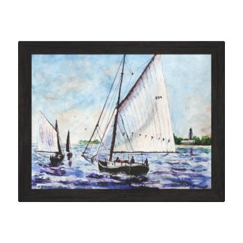 Sailing Along Fine Art Sailboats Watercolor Canvas Prints
