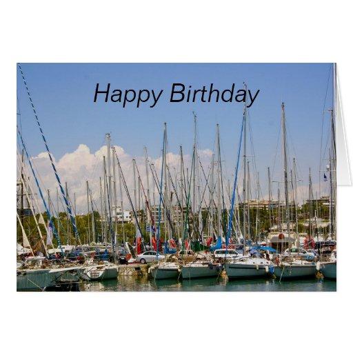 Sailing Boats Happy Birthday Card