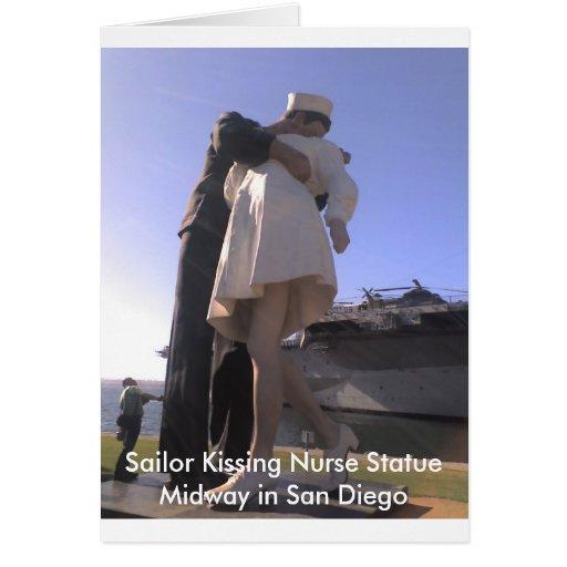 Sailor Kissing Nurse In San Diego Greeting Card