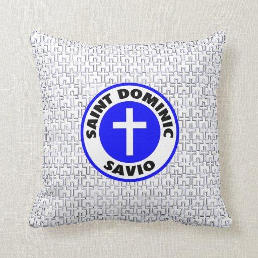 Saint dominic savio throw pillow zazzle for Saint dominic savio coloring page