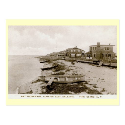Fire Island Ny: Saltaire, Fire Island, New York Vintage Postcard