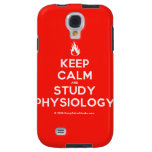 Keep Calm and Study Physiology' design on t-shirt, poster, mug and
