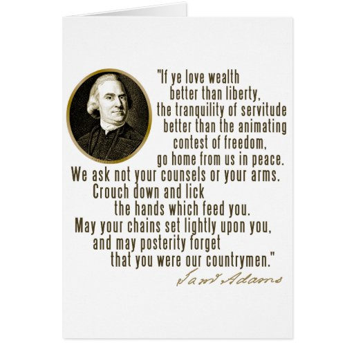 Samuel Adams Quotes: Samuel Adams Quote Greeting Card
