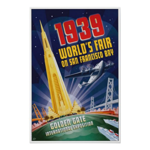 San Francisco Worlds Fair Vintage Poster Ra B F B F F Bc Dabf D E F Byvr on Zazzle Christmas Cards