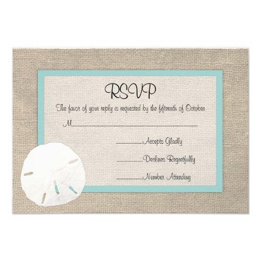 Wedding Invitation Rsvp Card: Beach Wedding, Here We Come