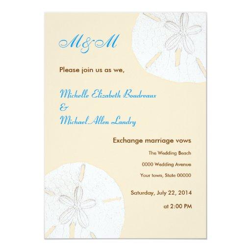 Sand Dollar Casual Wedding Invitations