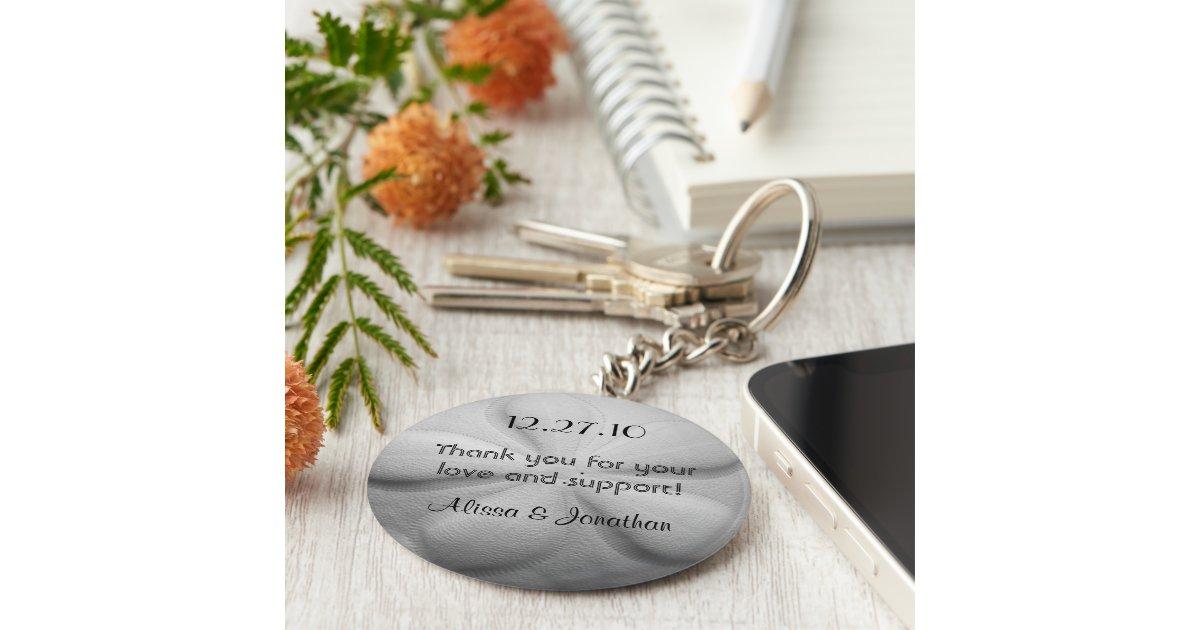 Sand Dollar Personalized Key Ring Wedding Favor Keychain