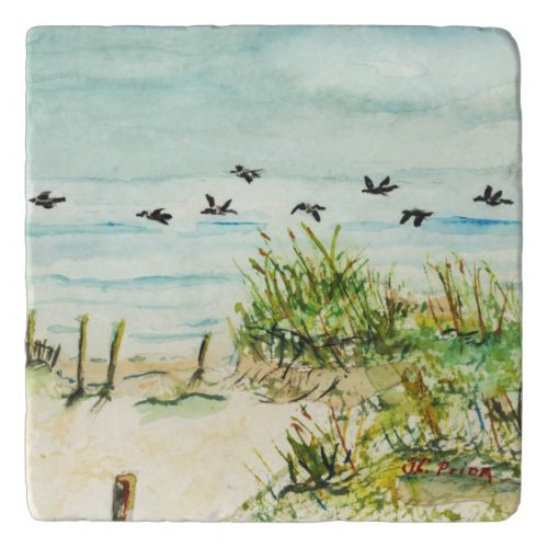 Sand Dunes and Seagulls Outer Banks North Carolina Trivets
