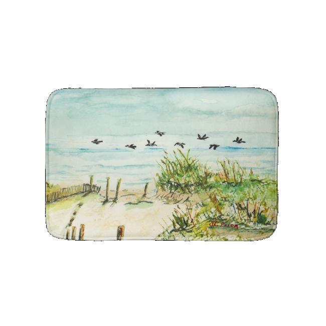 Sand Dunes and Seagulls Outer Banks North Carolina Bath Mats