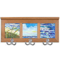 Sand, Sky, and Sea Triptych Coat Rack