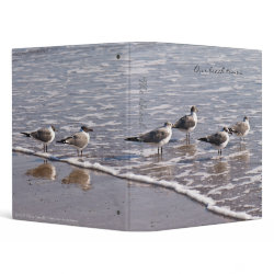 Sandpipers at the Tide Line Beach Binder binder