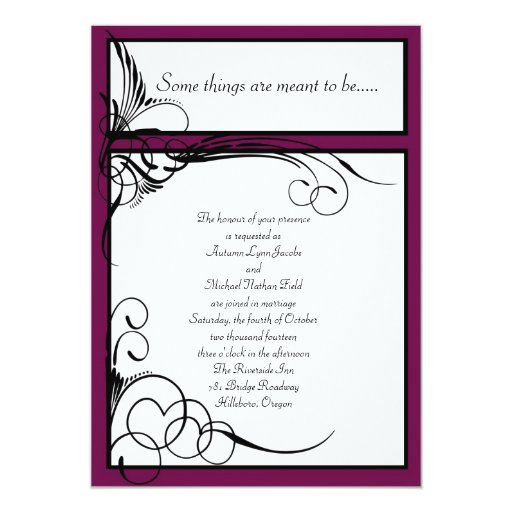 Sangria Wedding Invitations: Sangria Floral Wedding Invitations