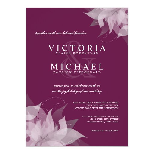 Sangria Wedding Invitations: Sangria Grape Floral Wedding Invitations