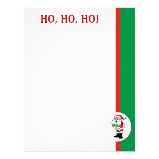 Santa Letter Paper Letterhead, Custom Santa Letter Paper Letterhead ...