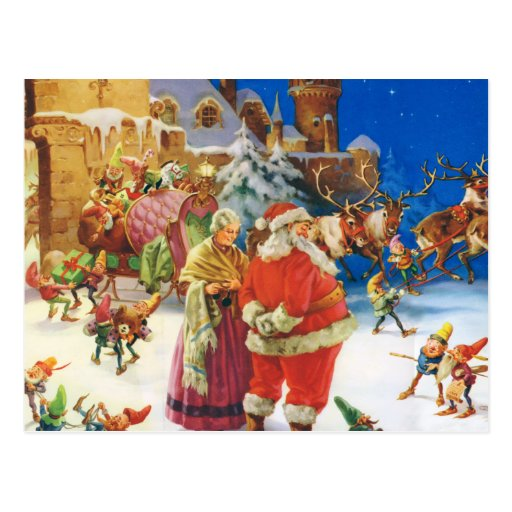 North Pole NY Santa's Workshop Decal Mini Postcard Book ... |North Pole Postcards