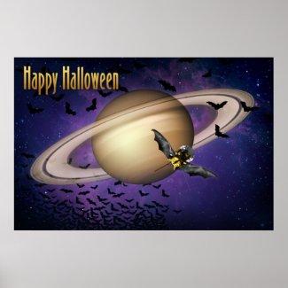 Saturn Happy Halloween Poster
