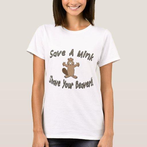 Shaved beaver t shirts amusing