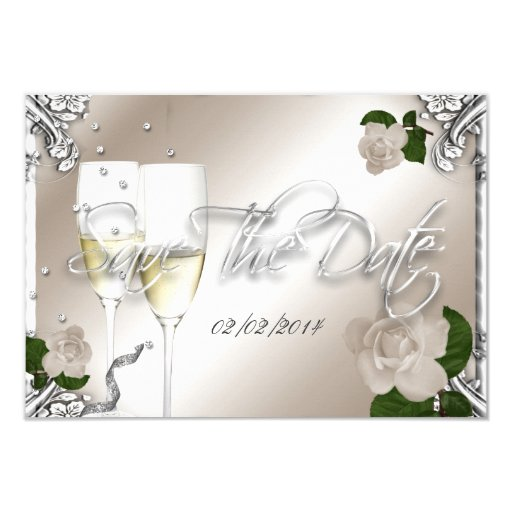 Wedding Anniversary Dates And Gifts: Save The Date 25th Anniversary Wedding Card