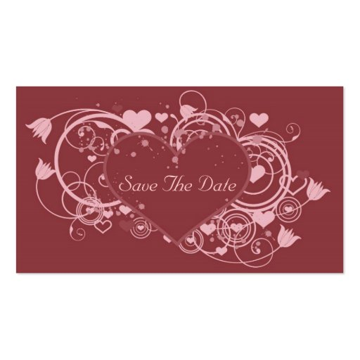 Save the date business card templates zazzle for Business save the date templates free