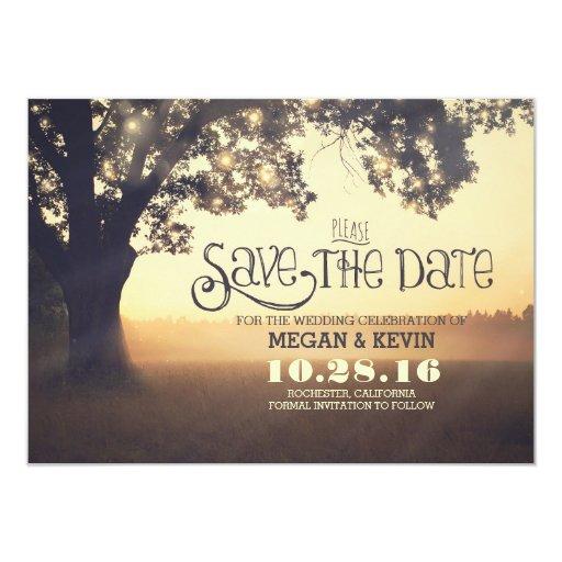 Save The Date Wedding Invitation Ornaments Save The Date: Save The Date Invitation With Tree & Lights
