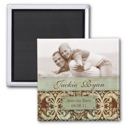 free vintage save the date templates - save the date magnet template green vintage zazzle