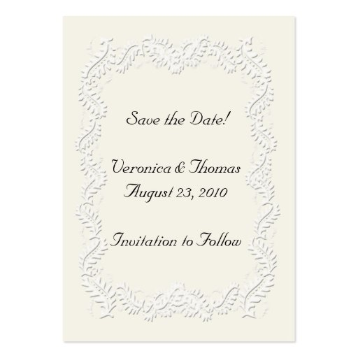 Save the date neutral business card templates zazzle for Business save the date templates free