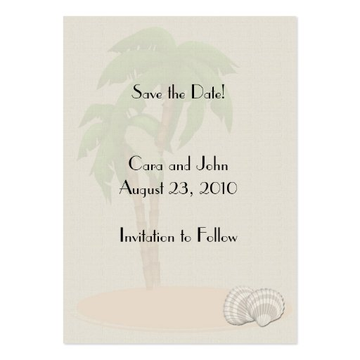 business save the date templates free - save the date tropical large business cards pack of 100