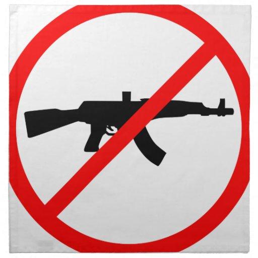 Say No To Guns Napkin   Zazzle