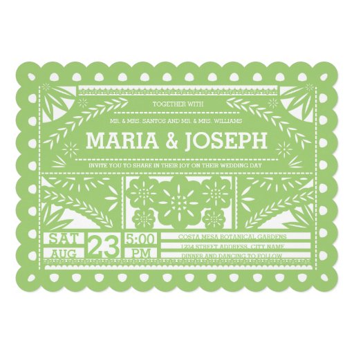 Personalized Mexican Wedding Invitations