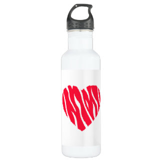 Red Heart Water Bottles | Zazzle