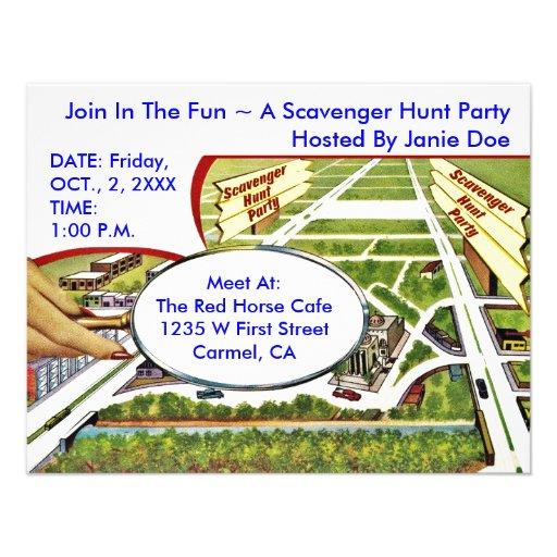 Personalized Scavenger Hunt Invitations