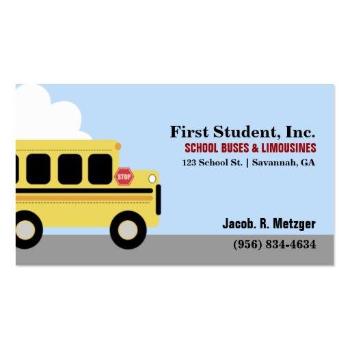 School Bus Automotive Business Card Template